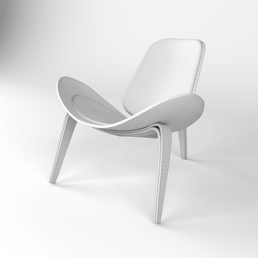 Hans Wegner sandalye royalty-free 3d model - Preview no. 5