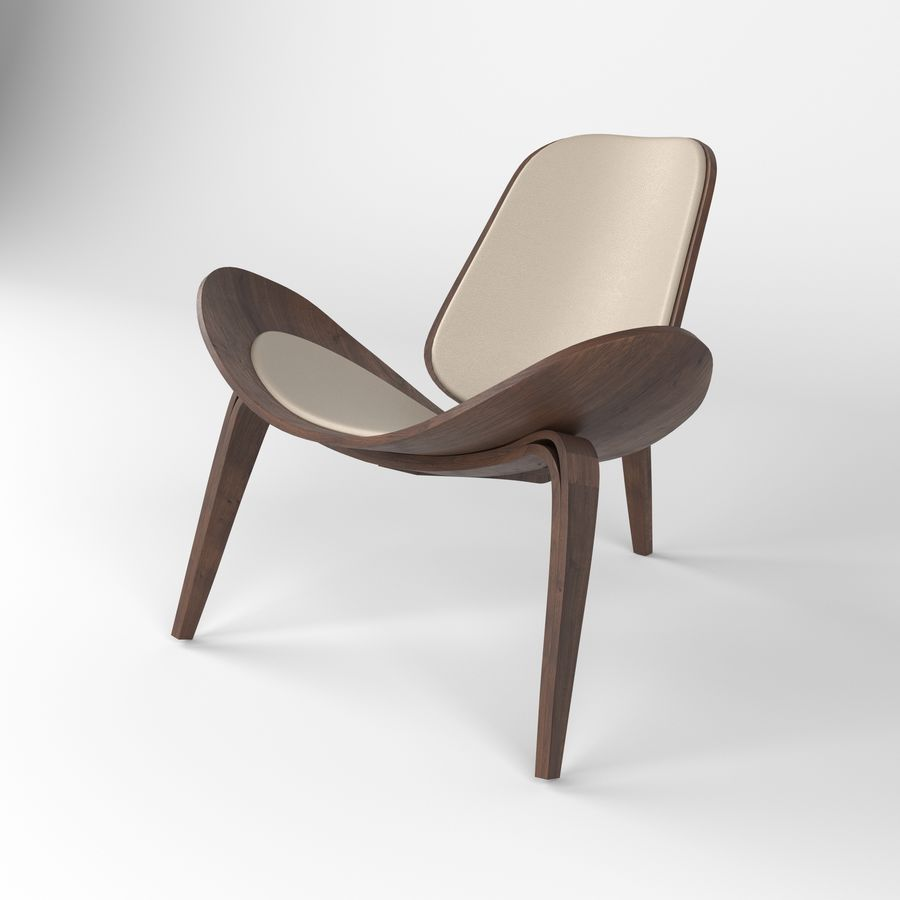 Hans Wegner sandalye royalty-free 3d model - Preview no. 3