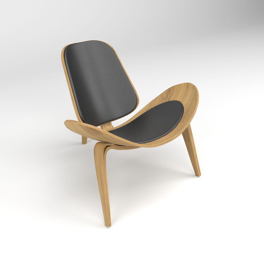 Hans Wegner sandalye royalty-free 3d model - Preview no. 1