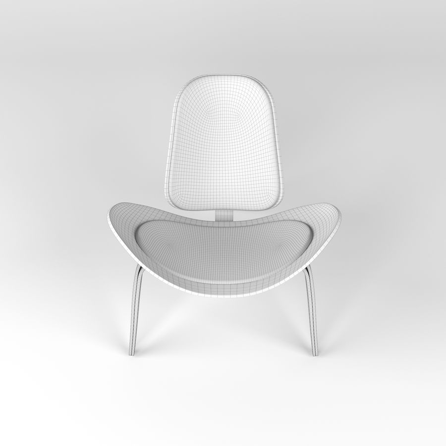 Hans Wegner sandalye royalty-free 3d model - Preview no. 7