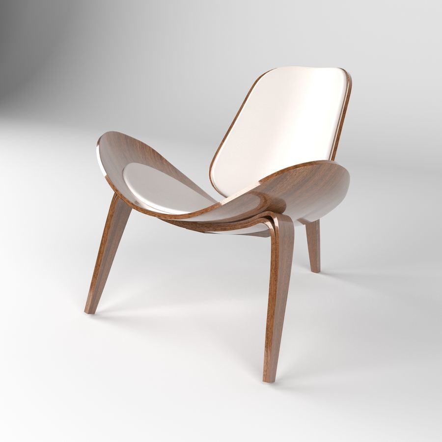 Hans Wegner sandalye royalty-free 3d model - Preview no. 8