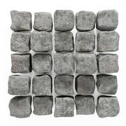 Stone cube granite panel n1 3d model