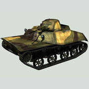 Char léger T-30 (URSS) 3d model