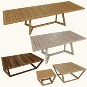 木製テーブルコレクション 3d model