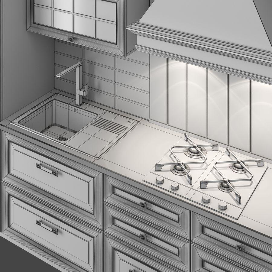 Kitchen Veneto royalty-free 3d model - Preview no. 8