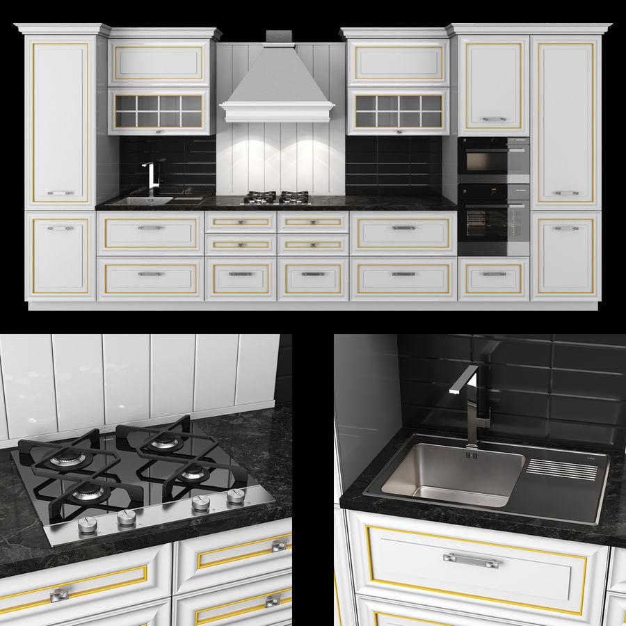 Kitchen Veneto royalty-free 3d model - Preview no. 1