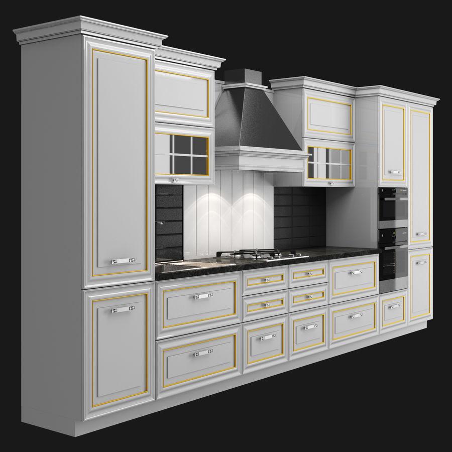 Kitchen Veneto royalty-free 3d model - Preview no. 2
