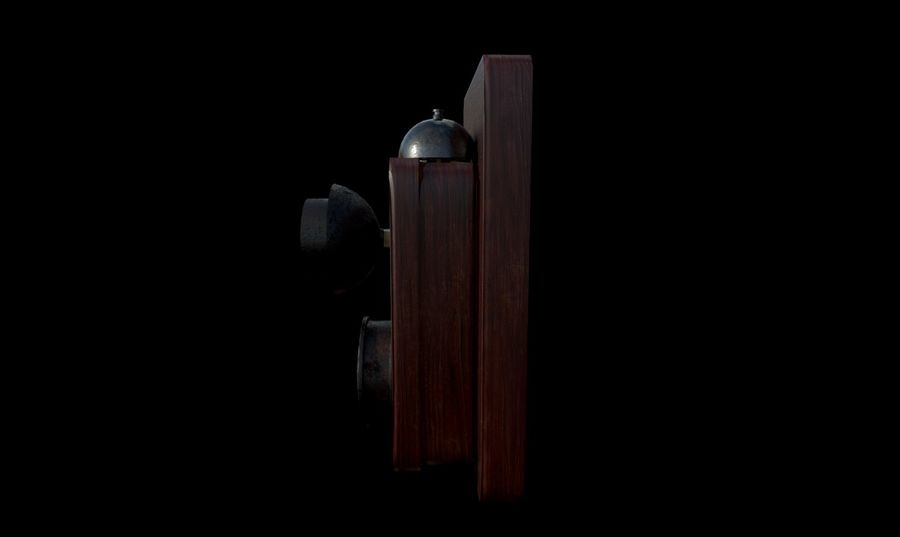 Old School Phone royalty-free 3d model - Preview no. 3