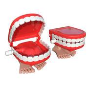 Mâchoire des dents sur les jambes 3d model