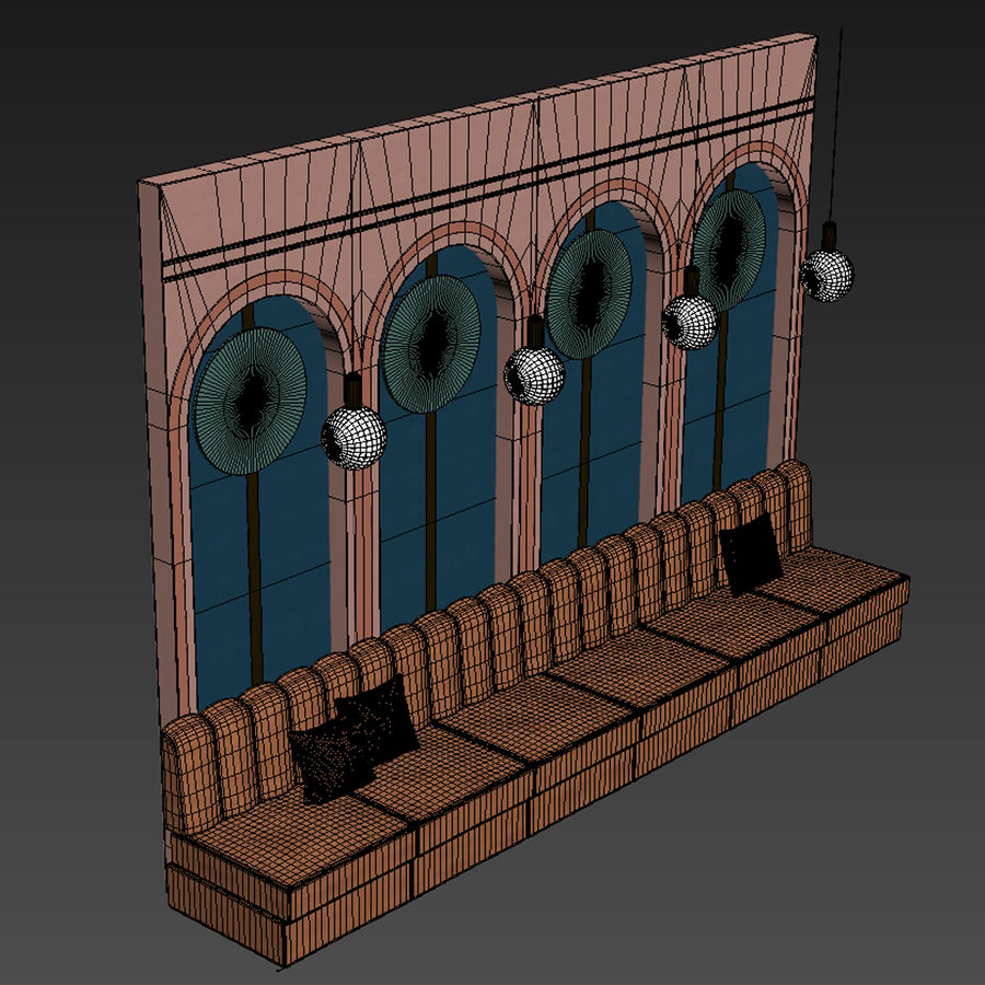 Väggpanelset 106 royalty-free 3d model - Preview no. 3