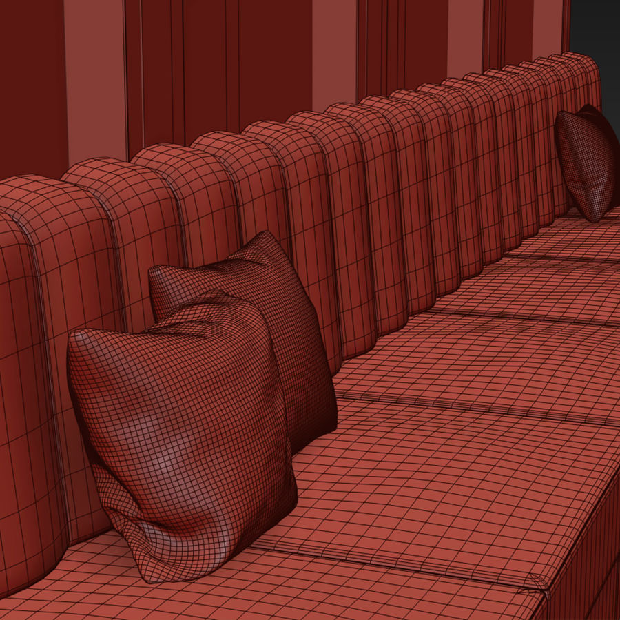 Väggpanelset 106 royalty-free 3d model - Preview no. 7