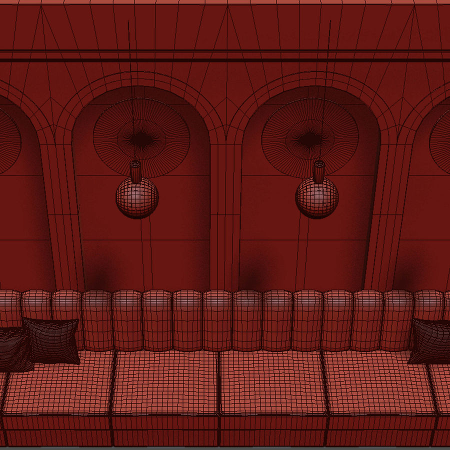 Väggpanelset 106 royalty-free 3d model - Preview no. 5