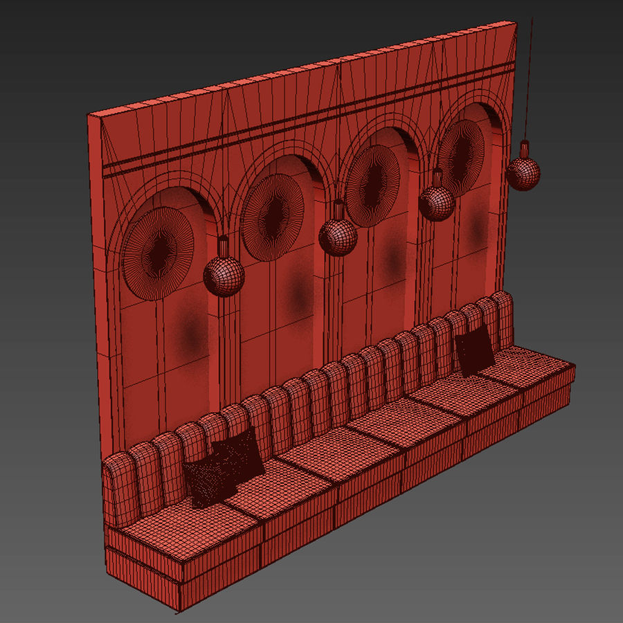 Väggpanelset 106 royalty-free 3d model - Preview no. 4