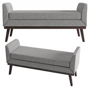 Classic Upholstered Bench 3d model