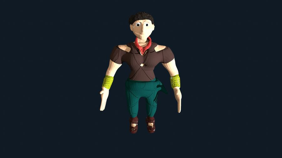 Modèle de personnage royalty-free 3d model - Preview no. 1
