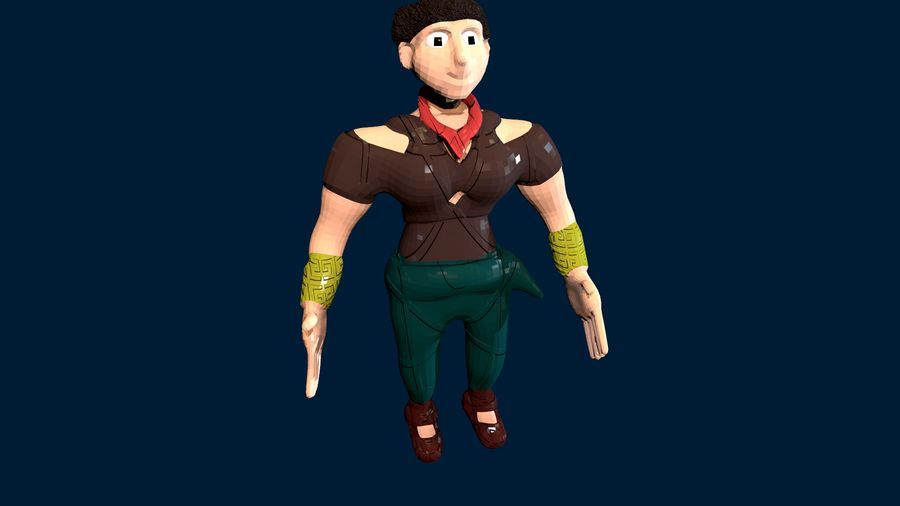 Modèle de personnage royalty-free 3d model - Preview no. 4