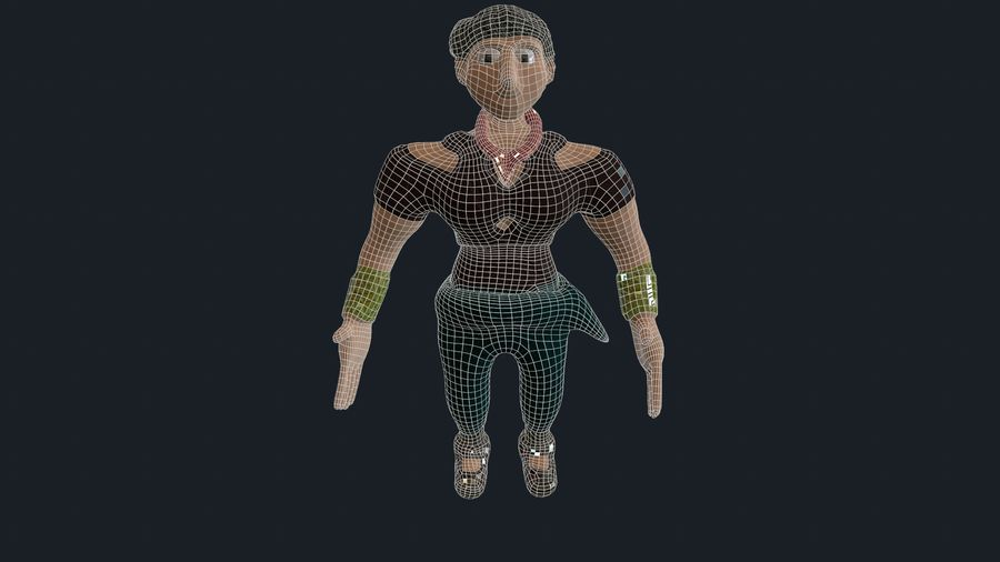 Modèle de personnage royalty-free 3d model - Preview no. 5