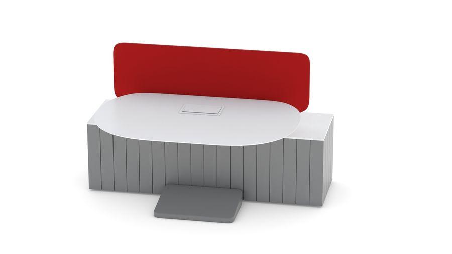 Bureau Herman Miller Locale 2 royalty-free 3d model - Preview no. 10