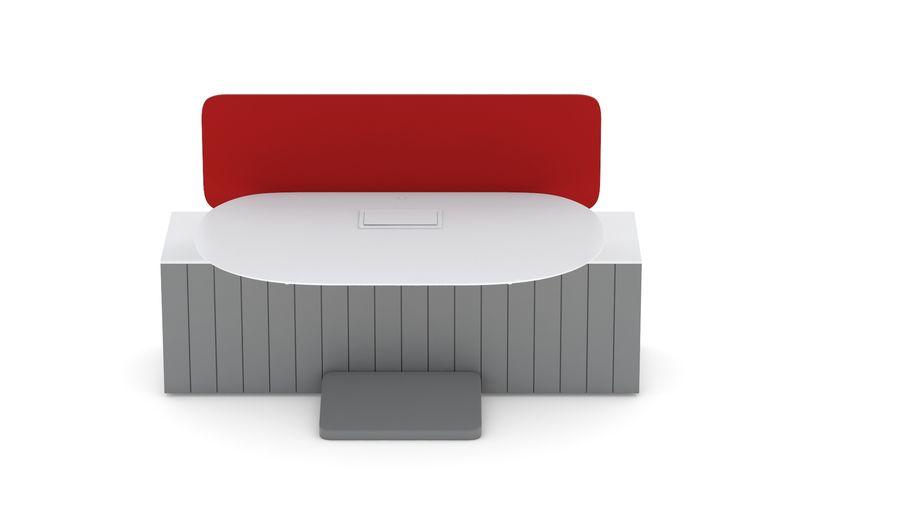 Bureau Herman Miller Locale 2 royalty-free 3d model - Preview no. 11