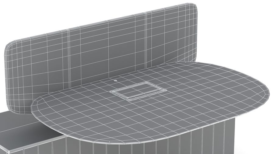 Bureau Herman Miller Locale 2 royalty-free 3d model - Preview no. 32