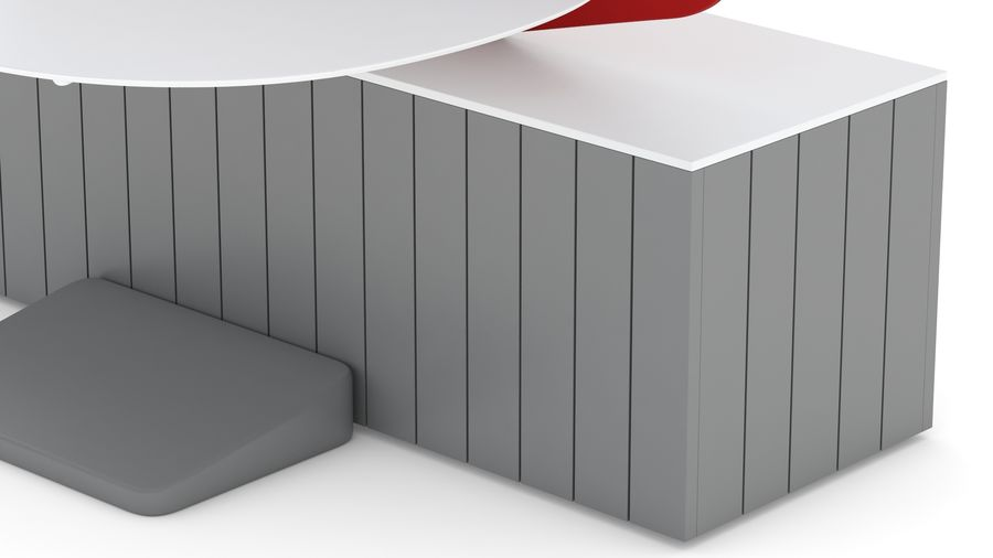 Bureau Herman Miller Locale 2 royalty-free 3d model - Preview no. 20
