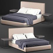 Minotti Powell Bett 3d model