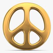Fredstecken symbol 3d model