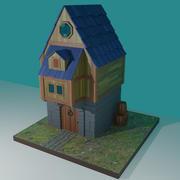 Колониальный Дом Фантазий 3d model