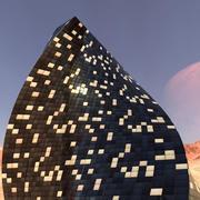 Modern gebouw 3d model