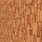 Bakstenen oude stenen muur 3d model
