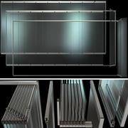 Glass Sliding Partition Walls 3d model