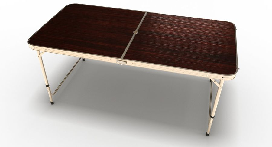 Folding Table royalty-free 3d model - Preview no. 17