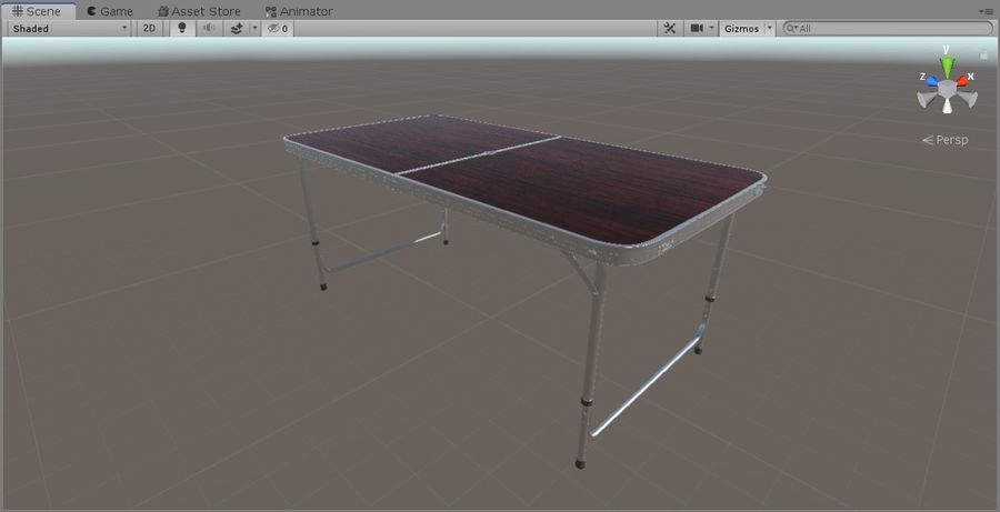 Folding Table royalty-free 3d model - Preview no. 12