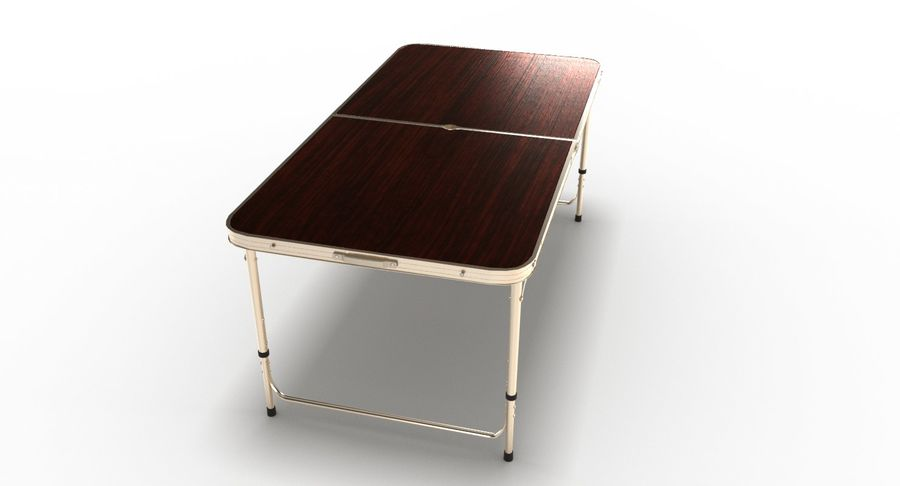 Folding Table royalty-free 3d model - Preview no. 14