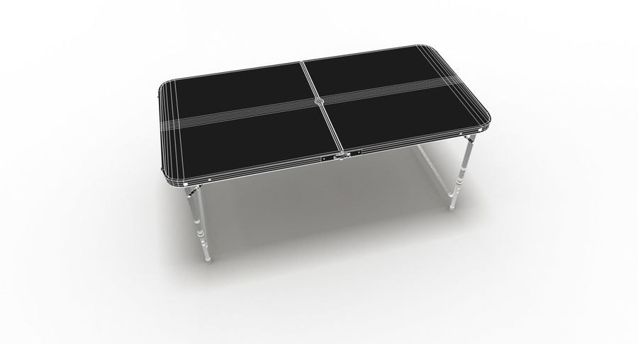 Folding Table royalty-free 3d model - Preview no. 41