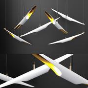 샹들리에 콜트레인 WHITE 3d model