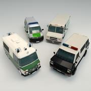 低聚警车包 3d model