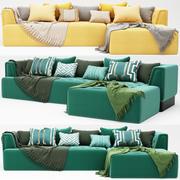 sofa narożna 3d model