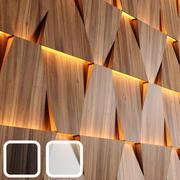 Деревянные светодиодные панели 3d model