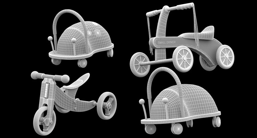 Toy Ride na zabawkach royalty-free 3d model - Preview no. 10
