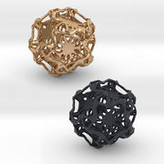 Drilled Perforated Dodecahedron Flower 3d model