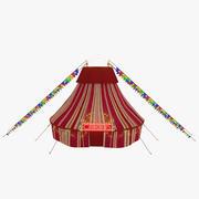 サーカスのテント 3d model