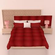Dormitorio contemporáneo modelo 3d
