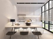 Dining with Kitchen view 3d model