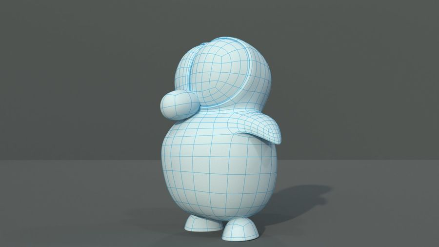 Cartoon Penguin royalty-free 3d model - Preview no. 6