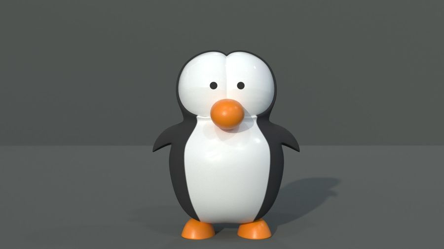 Cartoon Penguin royalty-free 3d model - Preview no. 2