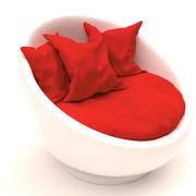 Круглый диван 3d model