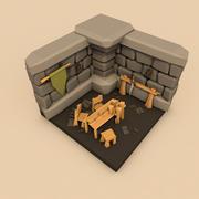 Pokój w lochach 3d model