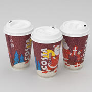 Costa Christmas Coffe Cup Large 2019 3d model