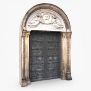 アーチ型の扉のある歴史的な入り口 3d model